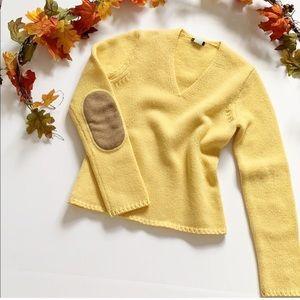 J. Crew Mustard Yellow 100% Wool Sweater